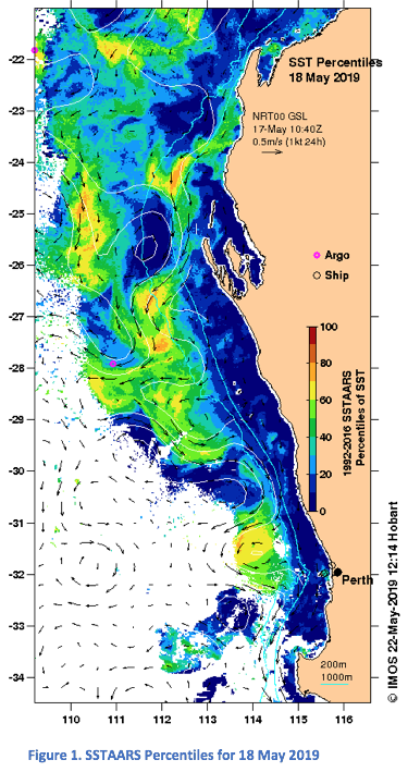 Australia West Coast Map.Latest News Imos Oceancurrent